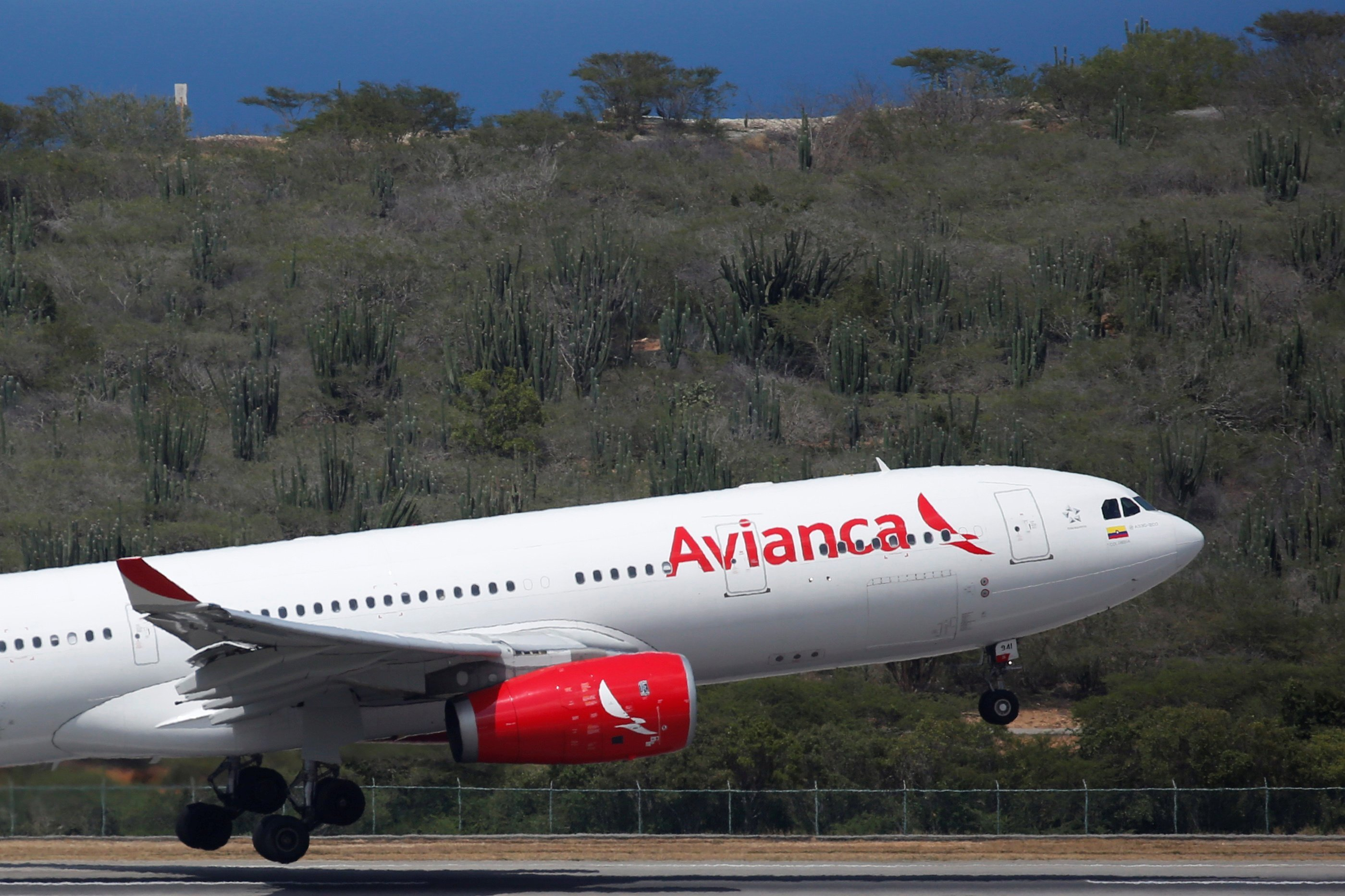 Avianca aircraft taking off