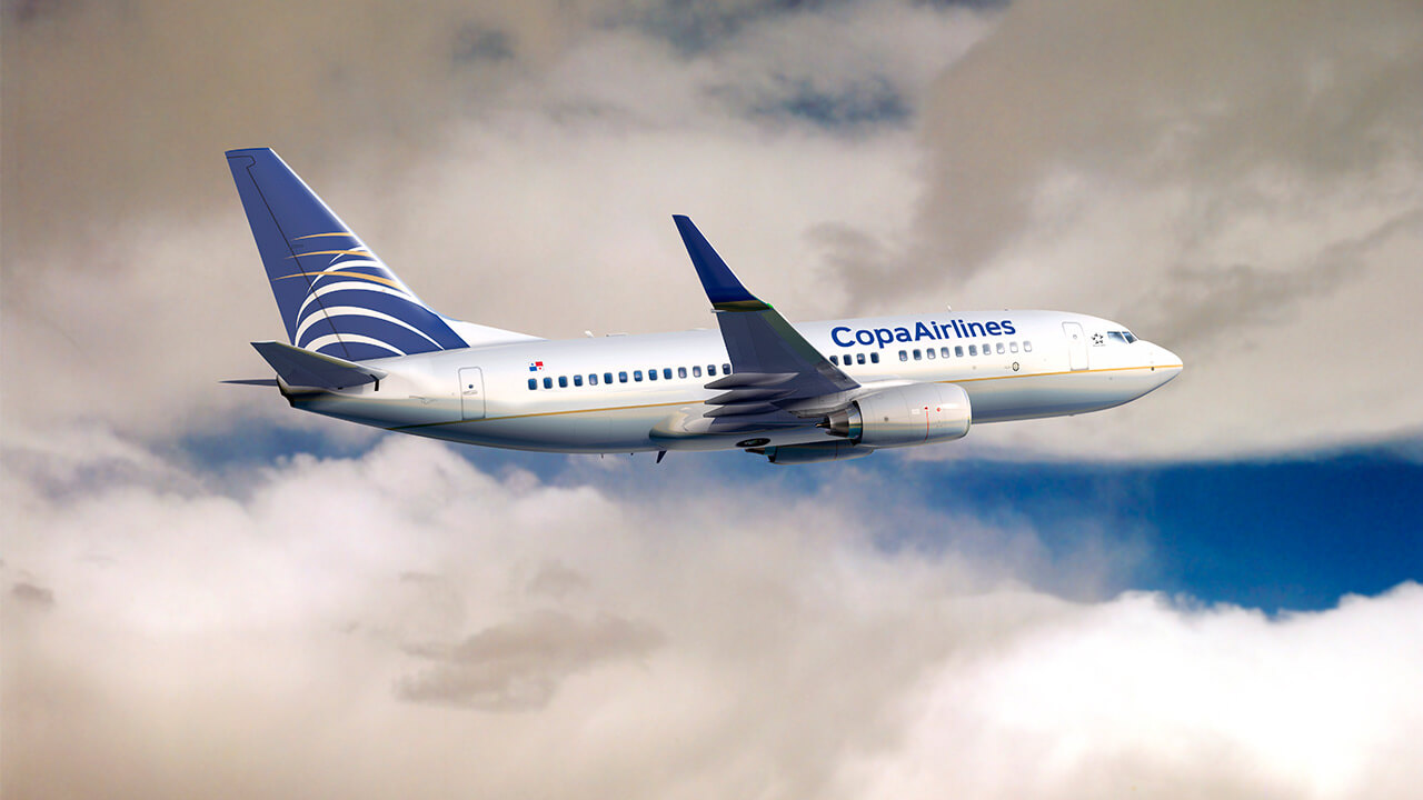 Copa Airlines plane in flight