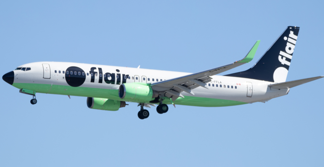 Flair airliner in the air