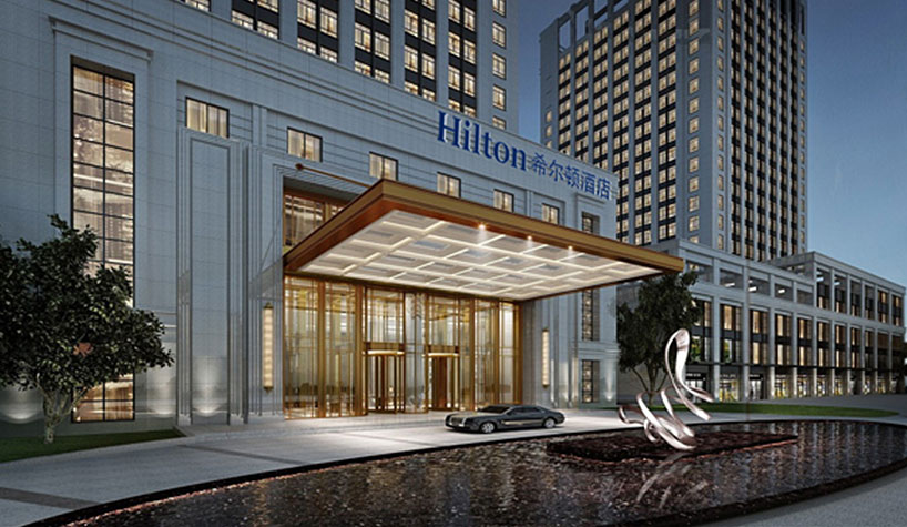 Hilton facade in China