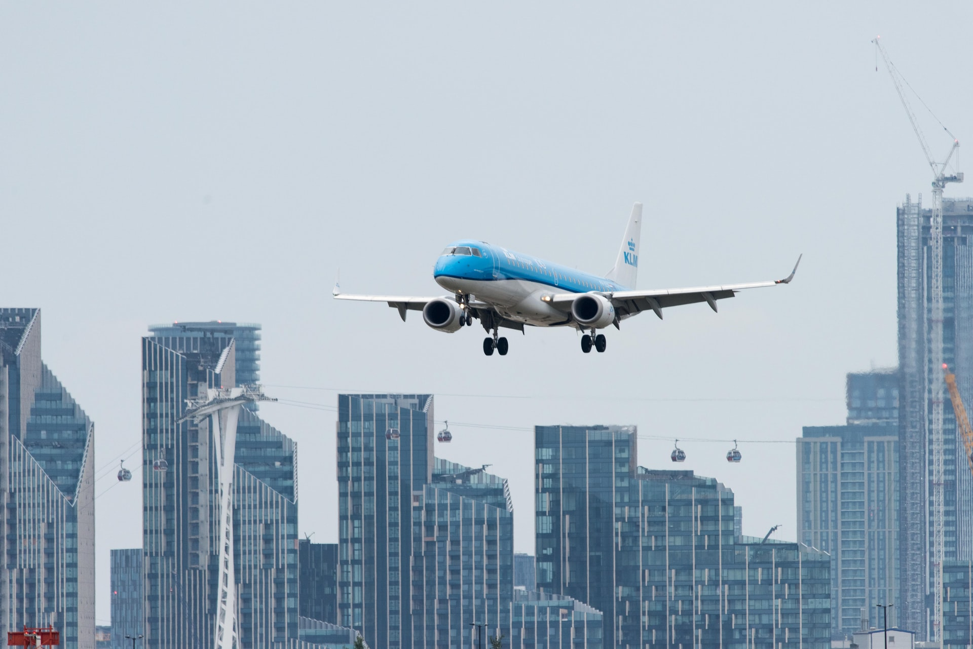 KLM plane in the air