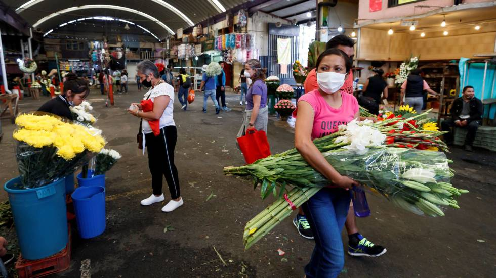 flower hawkers in Mexico