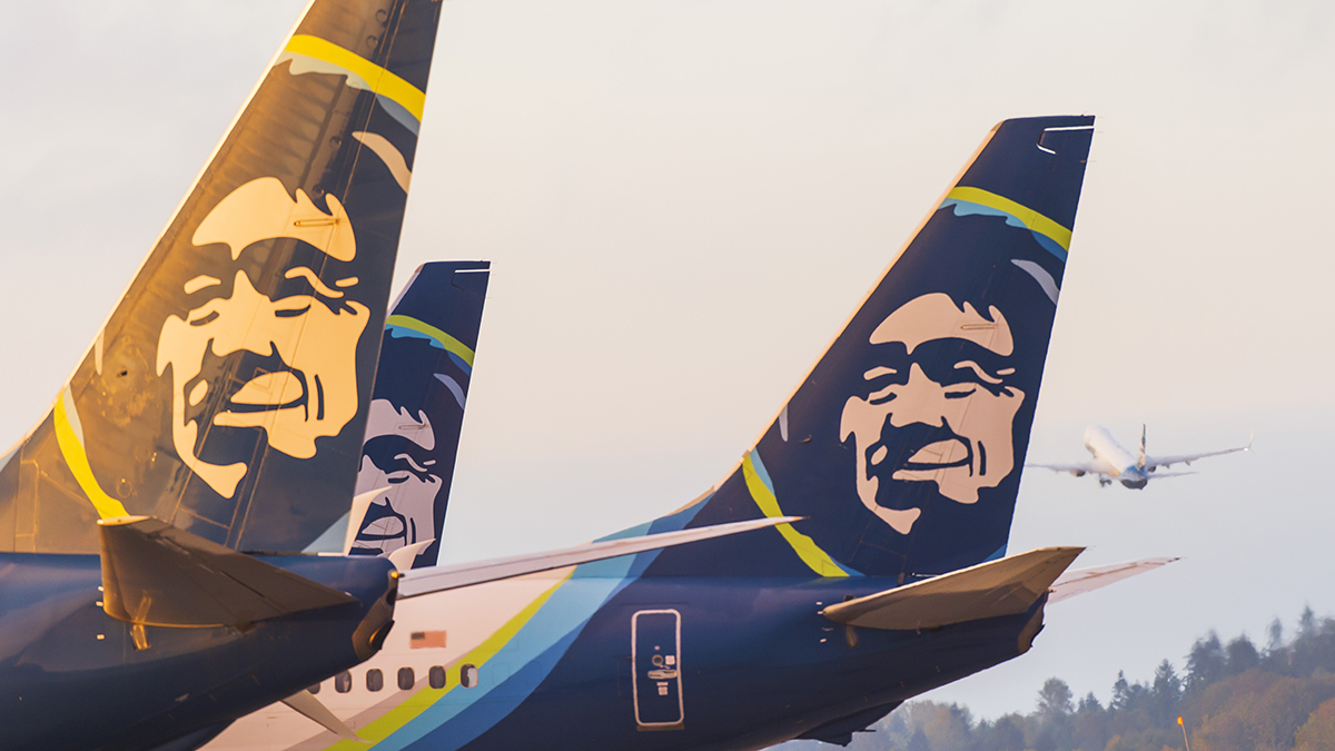 Alaska Airlines tails