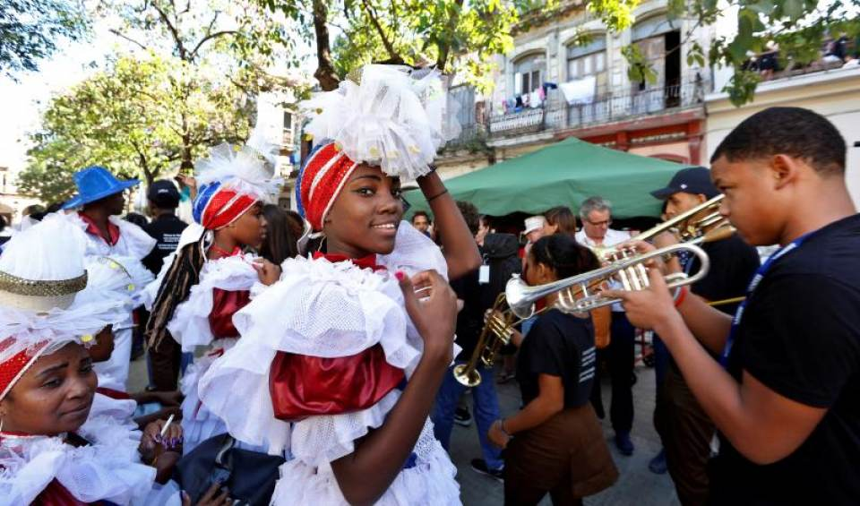 New Orleans conga in Havana