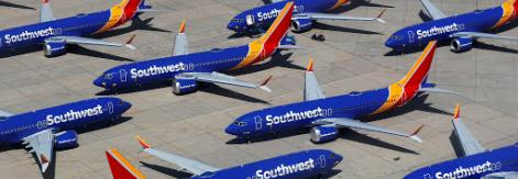 Southwest Airlines planes on tarmac