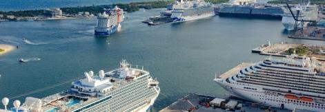cruises viewed from atop