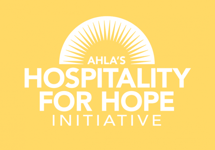 AHLA Hospitality for Hope Iniative poster