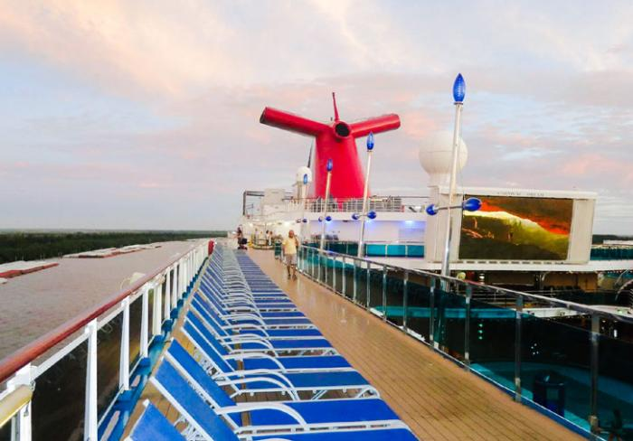 Carnival Cruise Line ship deck