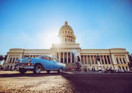 Havana Capitol and classic car