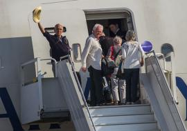 British passengers return home