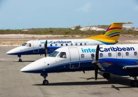 two interCaribbean planes on tarmac