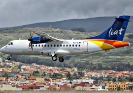 LIAT plane flying