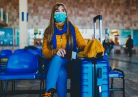 a woman in an airport