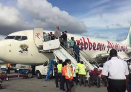 Caribbean Airlines plane on tarmac