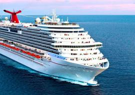 Carnival cruise ship at sea