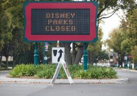 Disney parks closed sign
