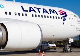 part of LATAM aircraft on tarmac