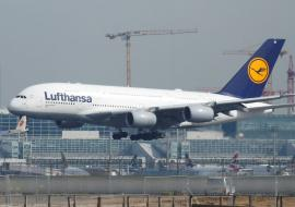 Lufthansa plane taking off