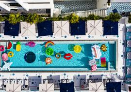 Moxy Miami Beach pool from above