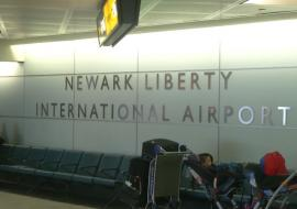 wall of the Newark International Airport