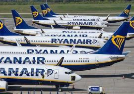 Ryanair planes on tarmac