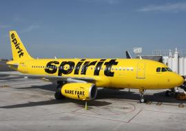 Spirit aircraft on tarmac