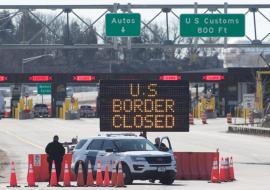 US-Canada border closed
