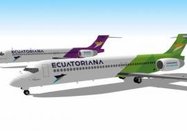 two Ecuatoriana Airlines planes