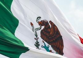 Mexican flag close-up