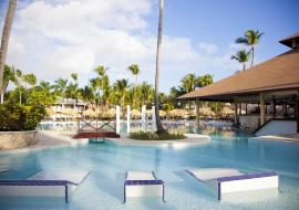 swimming pool of Palladium hotel in the Dominican Republic