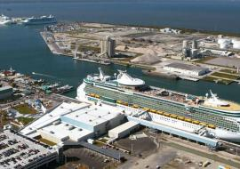 Port Canaveral seen from above