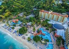 Sandals resort in Jamaica viewed from above