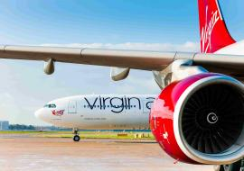 Virgin Atlantic plane and engine