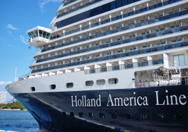 Holland America cruise docked