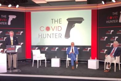 Covid Hunter presentation in West Palm Beach