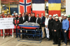 Construction of Latest Cunard Liner Begins with Steel-Cutting Ceremony